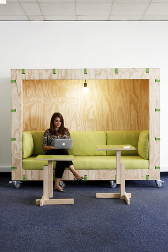 Crate couch and desk, Groote Schuur Hospital Innovation Hub, Interior by Haldane Martin, photo by Micky Hoyle 03 | by HALDANE MARTIN