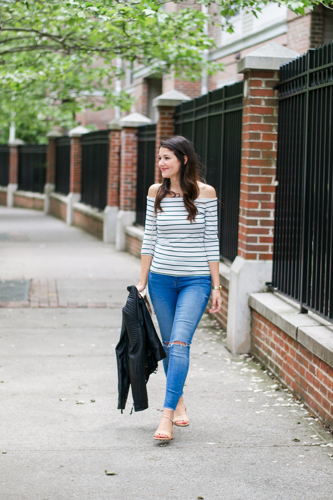 H&M Off The Shoulder Top Outfit