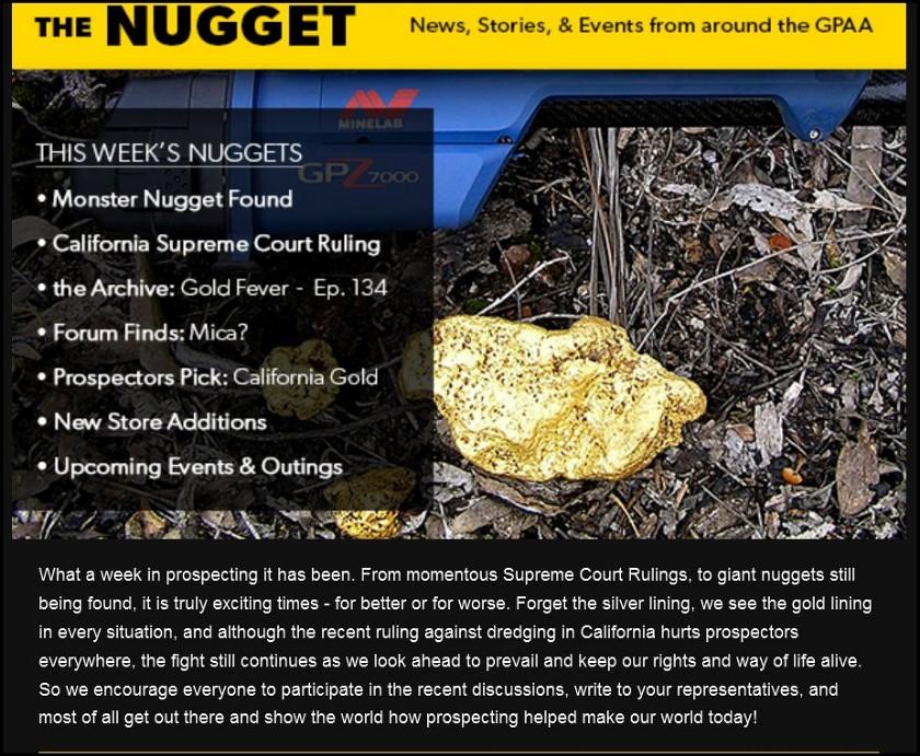 GPAA 145 oz gold nugget