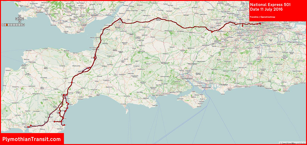 National Express Map 2016 07 11 National Express Route 501 MAP. | Graham Richardson  National Express Map