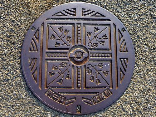 Ashikawa Yamaguchi, manhole cover (山梨県芦川村のマンホール)