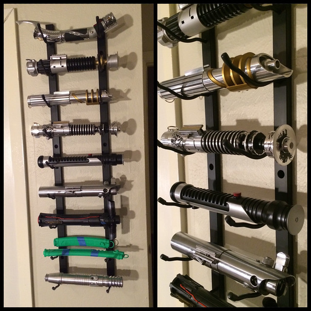 Wall Hung Lightsaber : How do you display your lightsabers? - Page 2