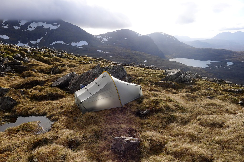 Wild camp in the Fannaichs