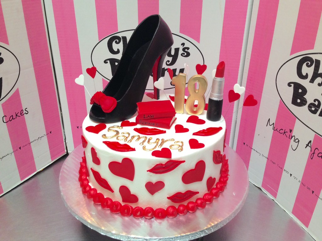 30th birthday cake decorated with 3D peep toe stiletto 3D Flickr