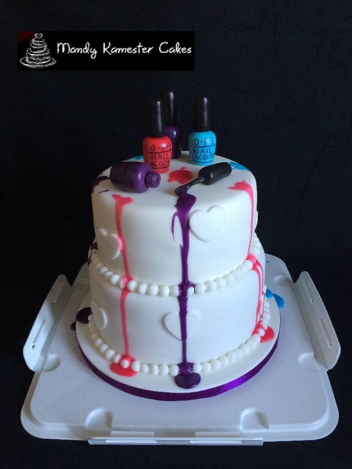 Nail Varnish Cake Fun Birthday Cake With Opi Nail Varnish Flickr