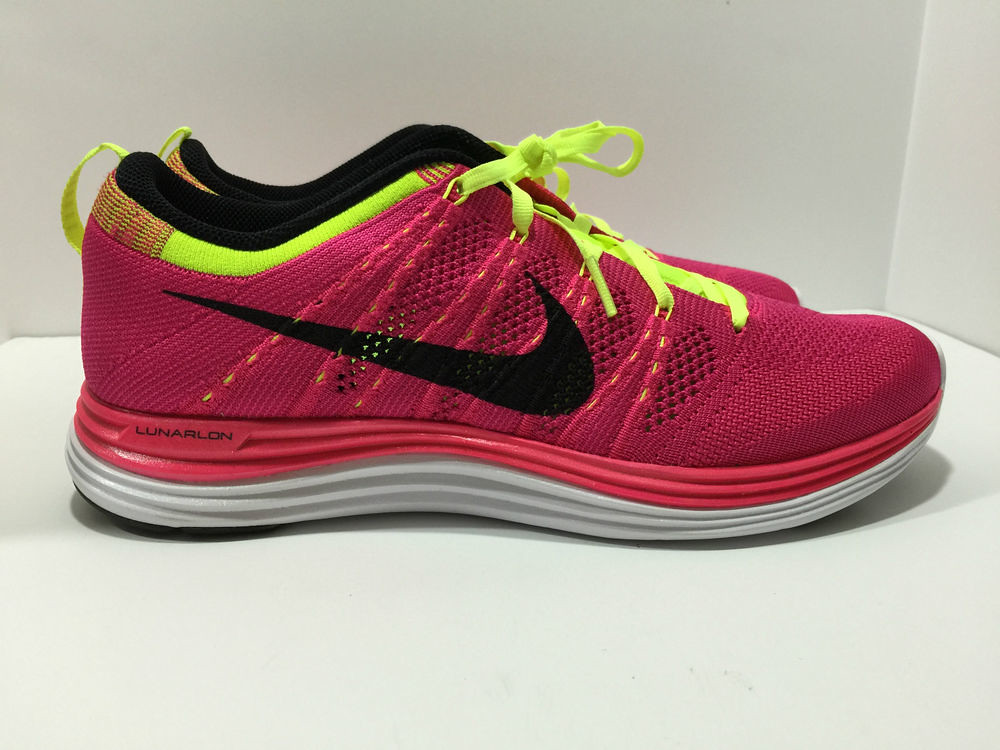 edaadec414ca9 ... new zealand womens nike flyknit lunar 1 size 11 pink flash volt  fireberry 554888 5989c f50b3