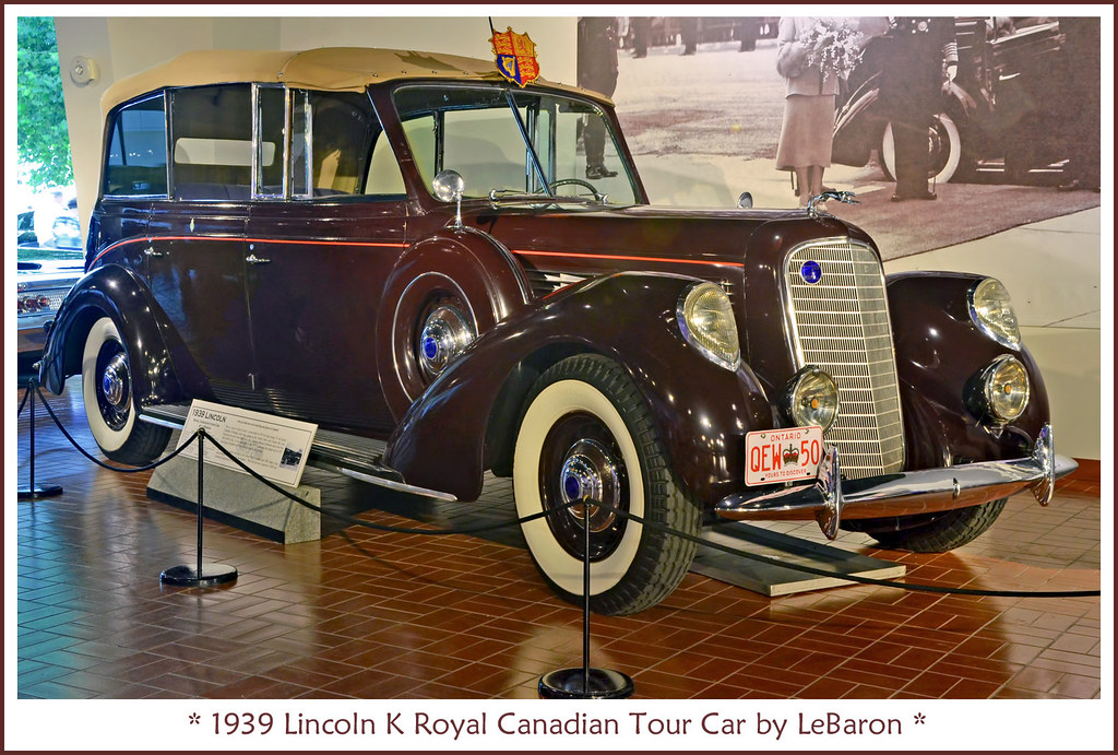 1939 lincoln k royal canadian tour car visit to the lincol flickr Lincoln Zepher 1939 lincoln k royal canadian tour car by sjb4photos