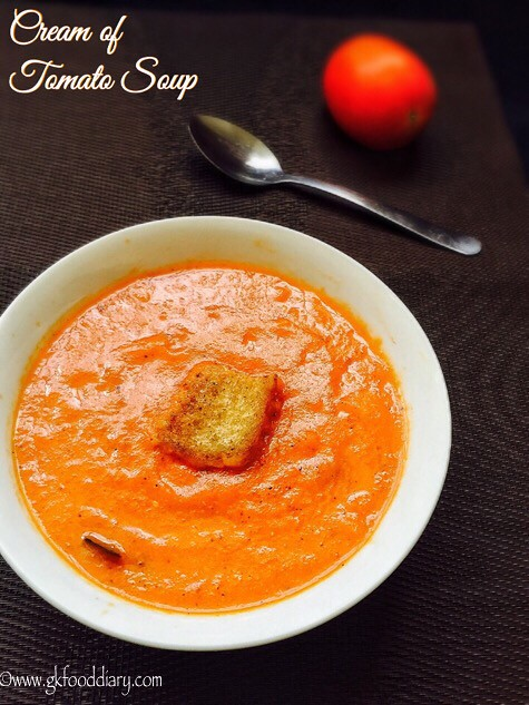 Cream of Tomato Soup Recipe for Babies, Toddlers and Kids