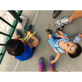 "I had Aidan on the seat behind me while I cycled and he was shouting dramatically as I pedalled, ""Oh I am so tired!"" And when I panted from the exertion, he asked me, ""What's wrong with you? Why are you tired?"" Meanwhile, the littlest was screaming the en 