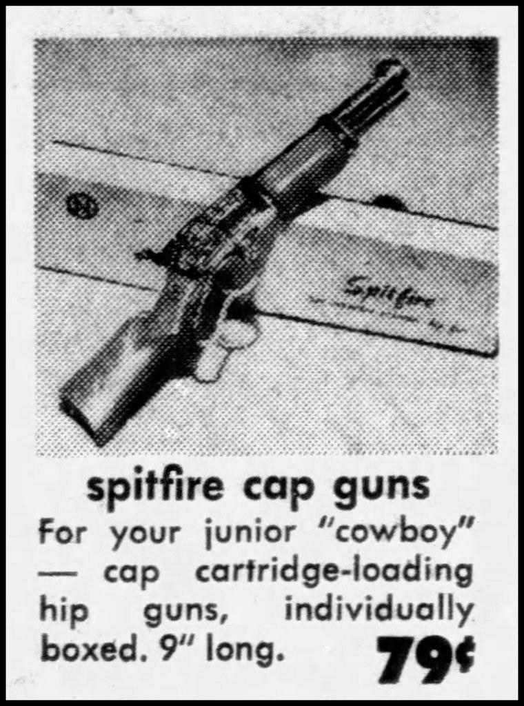 Vintage Advertising For the Nichols Spitfire Toy Cap Gun