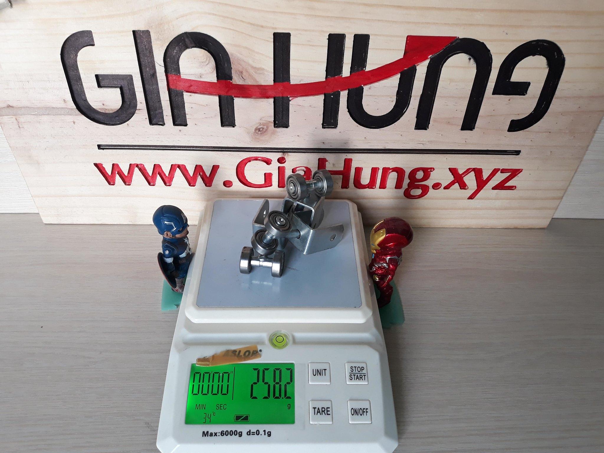 Trọng lượng của 3 chiếc bánh xe u xoay CDS-159 là 258,2gr
