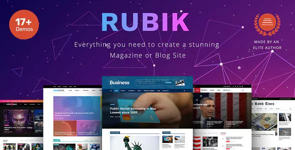 RUBIK V1.1 – A PERFECT THEME FOR BLOG MAGAZINE WEBSITE