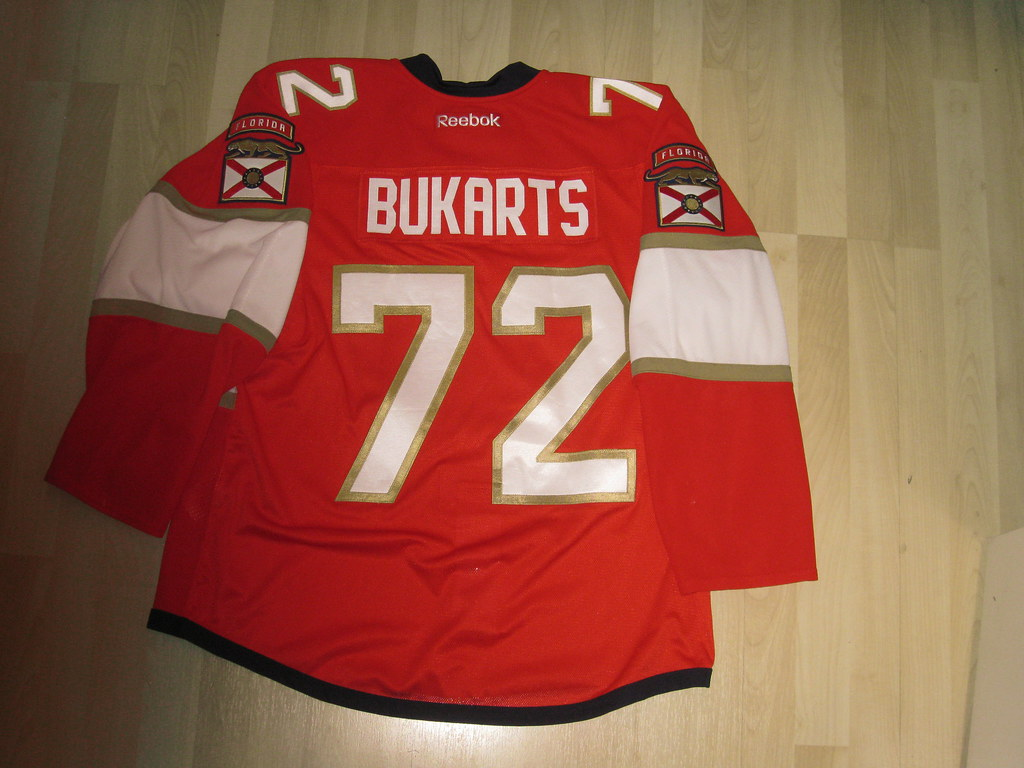 reputable site 3df9b 610d7 Richards Bukarts Florida Panthers 15-16 Game worn Preseaso ...