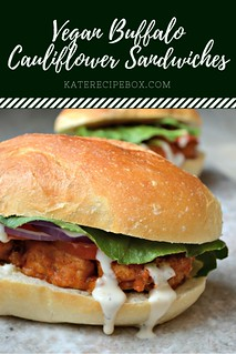 Vegan Buffalo Cauliflower Sandwiches | by katesrecipebox