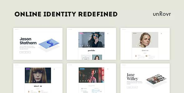 unRovr v1.0.4 - Animated vCard & Resume WordPress Theme