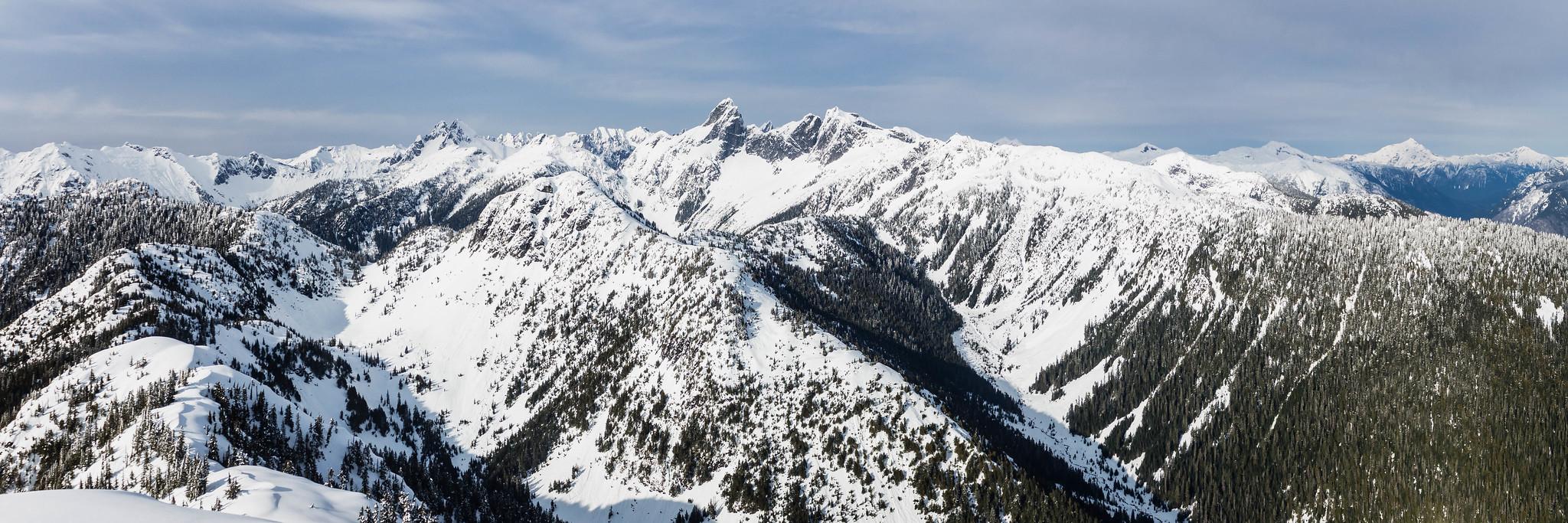North-to-northeast panoramic view
