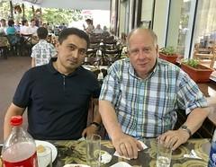 Fazil Khasanov and Ivan Abrams, Efendi Restaurant, Tashkent, Uzbekistan, July 14, 2018