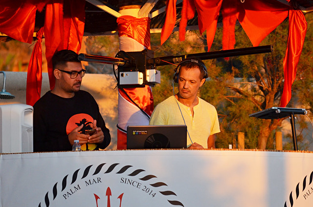 DJs Jacobo Padilla and Nico, Bahia Beach, Palm Mar, Tenerife