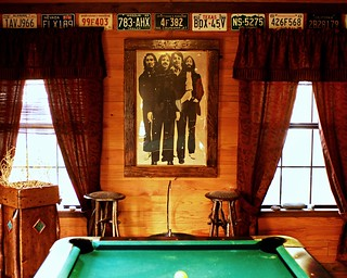 Pool Table, Beatles and a Tumbleweed Lamp | by Studio d'Xavier