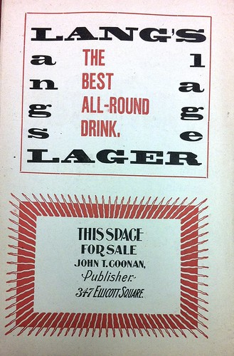 Lang's Lager ad | by bunky's pickle
