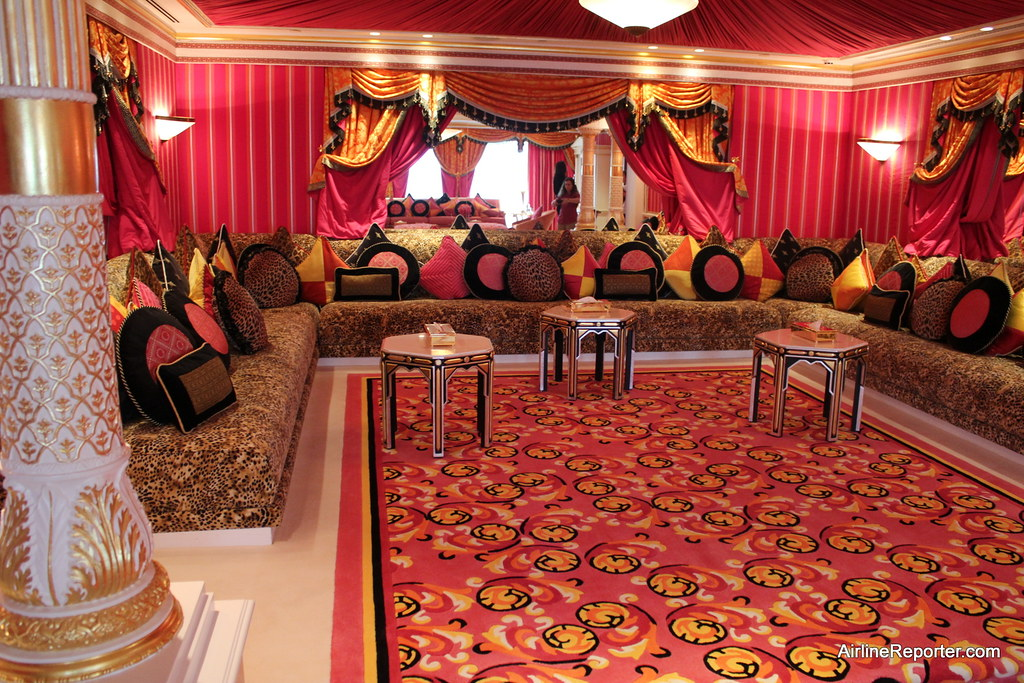 Burj al arab royal suite from the hotel 39 s website area for Arabic living room decoration