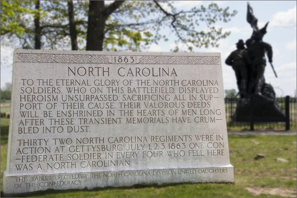 North Carolina State Monument Seminary Ridge Gettysburg