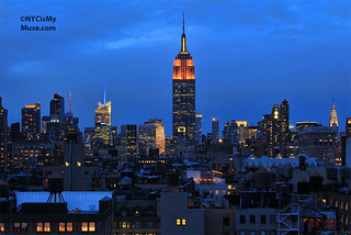 Empire State Building in Orange & Yellow for the 25th Anniversary of the James Beard Foundation and the 22nd Annual James Beard Awards | by NYCisMyMuse
