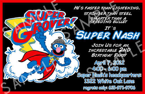 Sesame Street Invitation Template for awesome invitations layout