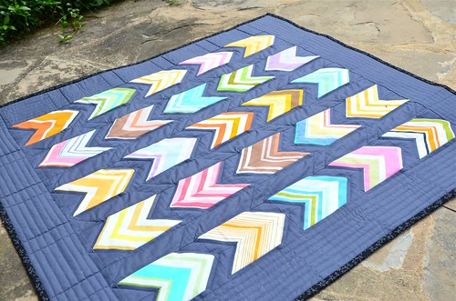 Vintage Chevrons baby quilt | by thought & found / Sheila