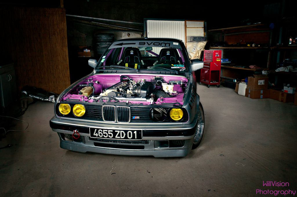 Light Painted Bmw E30 Drift Car M5 Powered Full Set On