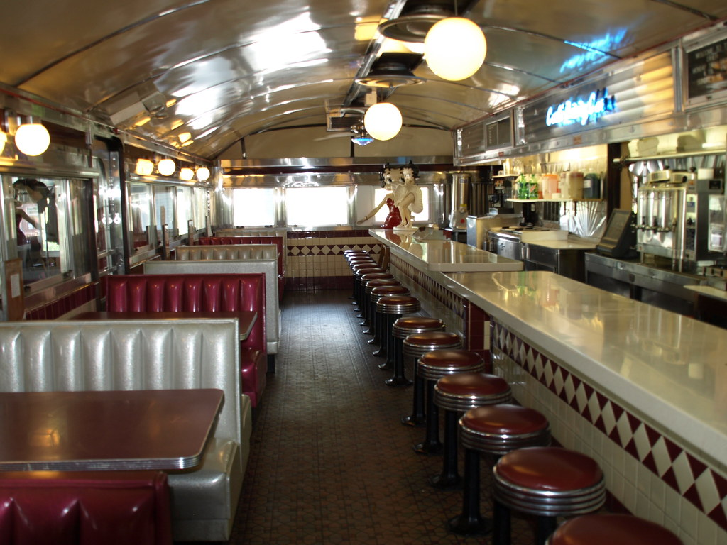 forest diner inside of silk city dining car forest diner nida flickr. Black Bedroom Furniture Sets. Home Design Ideas