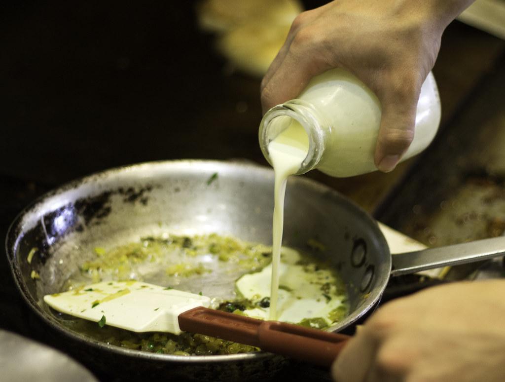 IMG_3681 Salmon w CSF cream sauce pouring cream ...