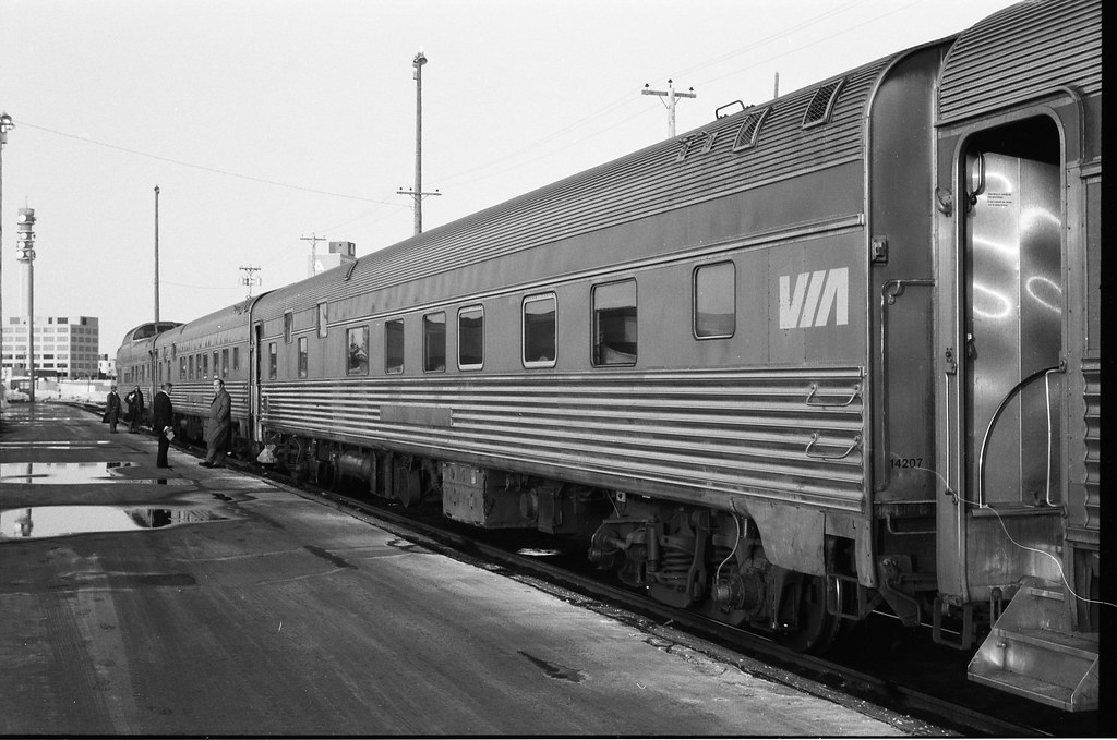 Via Rail Canada Train The Ocean At Moncton Nb Ex Cp Budd B