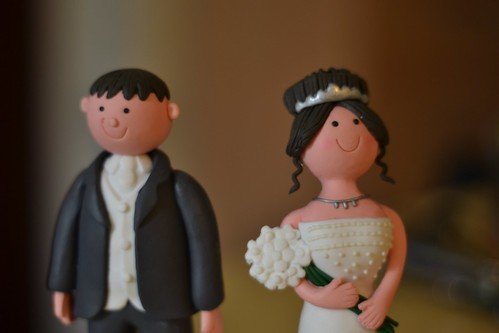 Bride & groom wedding cake figurines | by bigpresh