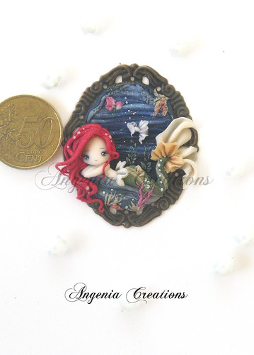mermaid cameo | by Angenia Creations