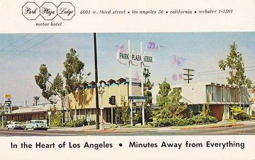 Park plaza lodge motor hotel los angeles back of for Motor hotel los angeles