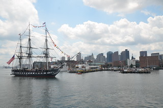 Independence Day 2012: USS Constitution turnaround & Blue Angels flyover: Old Ironsides sailing past the North End of Boston | by Chris Devers