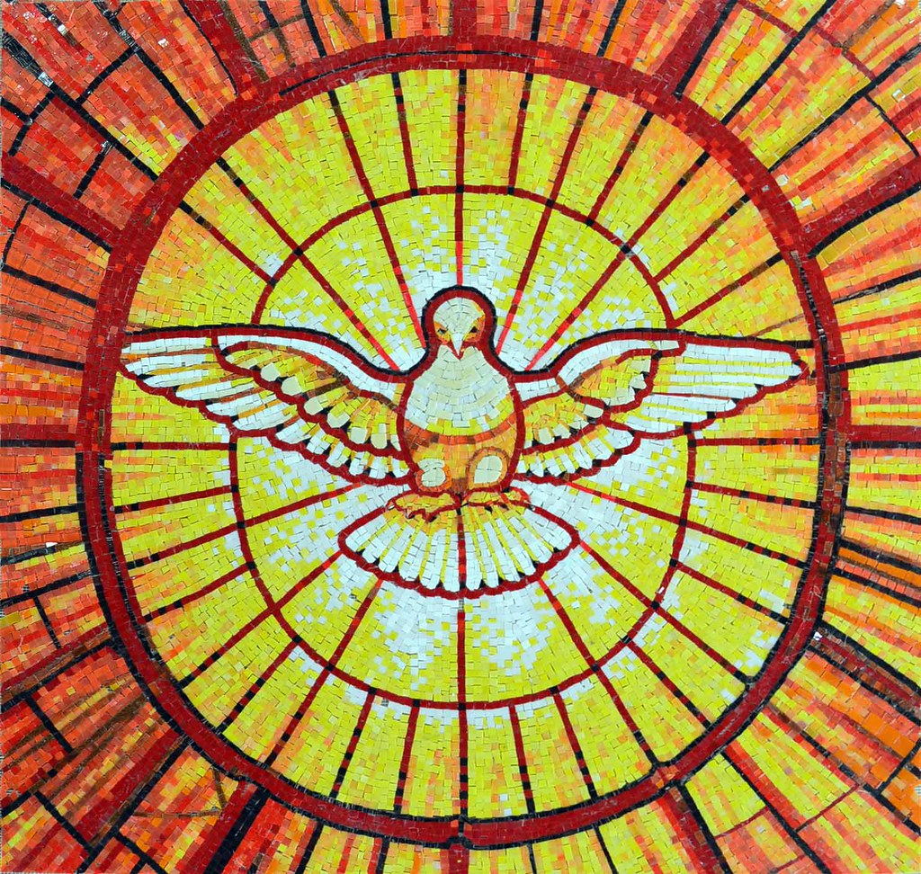 St peter 39 s basilica holy spirit dove glass mosaic flickr for Crossing the shallows tile mural