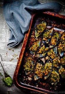 Mussels Gratinee with Spinach Pesto | by gratinee
