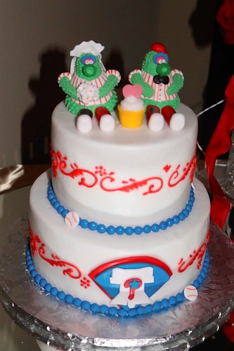 Mr. and Mrs. Michael's wedding cake | by PhilliesNation