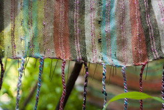 scarf on trellis with pins | by karenchristine552