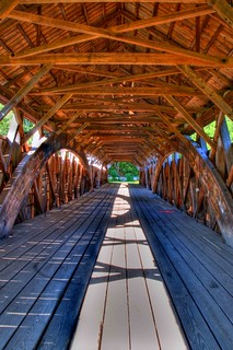 Inside the Parsonfield-Porter Covered Bridge HDR | by Adam's Attempt (at a good photo)