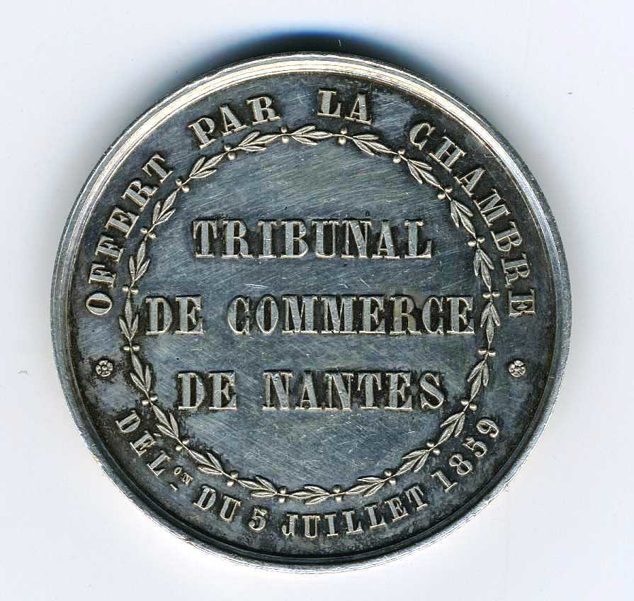 Nantes tribunal de commerce entre 1860 et 1879 revers p for Chambre de commerce nantes
