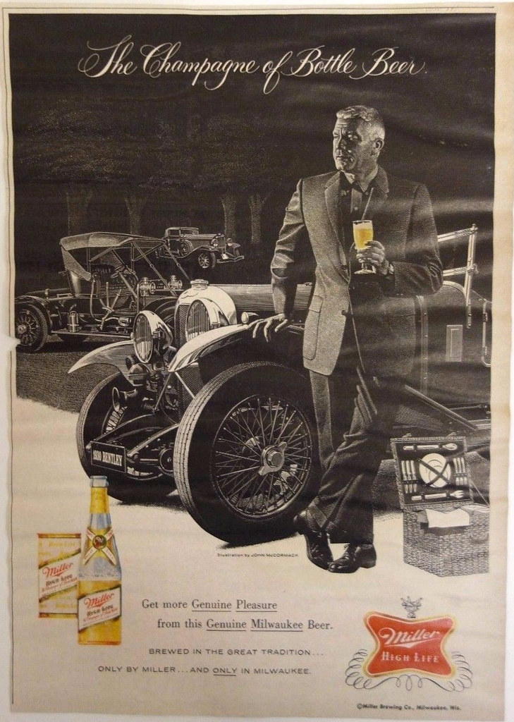 1960-miller-high-life-beer-man-with-1930-bentley