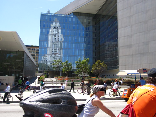 The ubiquitous city hall CicLAvia reflection picture during CicLAvia on April 15, 2012 | by ubrayj02
