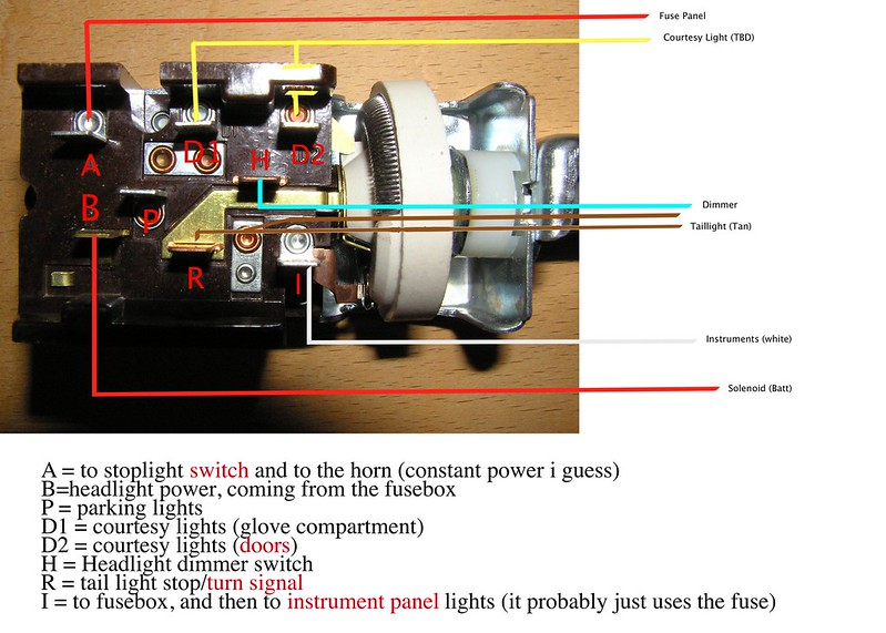 1953 Chevy Truck Headlight Switch Wiring Diagram