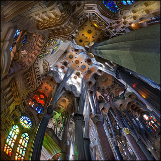 1299 La Sagrada Família (Fisheye world) | by QuimG