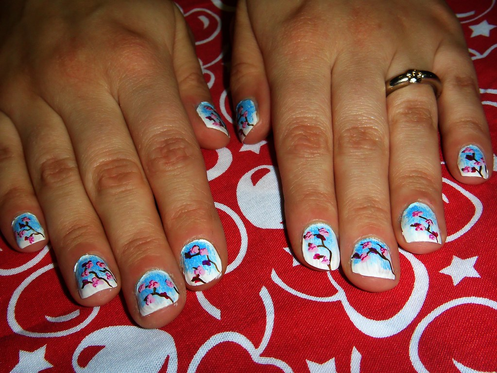Cherry Blossom Nail Art | Check out Buzz Buzz on Facebook! w… | Flickr
