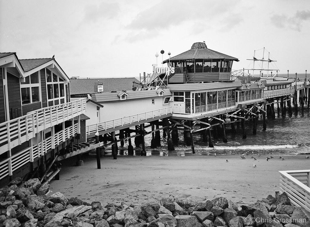Old tonys redondo beach pier ga645zi xp2 by divewizard
