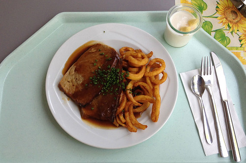 Rahmhackbraten mit Twister Fries / Cream meat loaf with twister fries | by JaBB